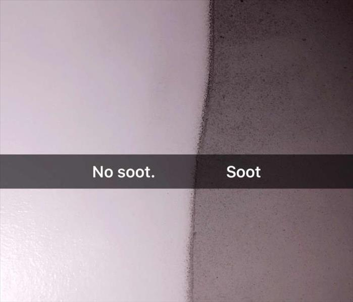 soot dirty and clean surface