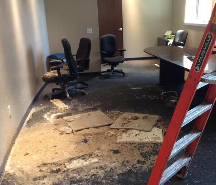 Water Damage Conference Room Flood