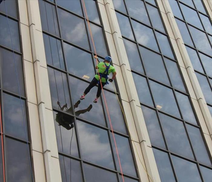 Why SERVPRO SERVPRO Rappels Down 17 Stories